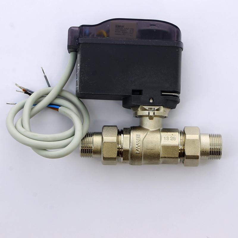 """Кран шаровой с разъемными соединениями НН двухходовой MODULO COMPACT с сервоприводом EMMETI 3/4"""""""