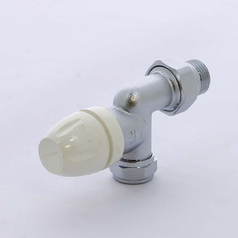 """Вентиль обж-Н угловой для радиаторов термостатический с разъемным соединением TIEMME 1/2""""х15"""