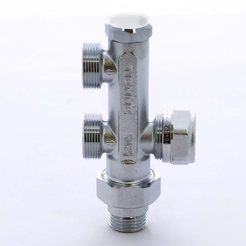 """Узел радиаторный обжим-НН с разъемным соединением для однотрубной системы разводки в пол TIEMME 1/2""""-M24х19"""