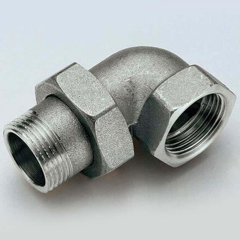 """Разъемное соединение НВ угловое с прокладкой O-ring никелированное TIEMME 1""""1/2"""