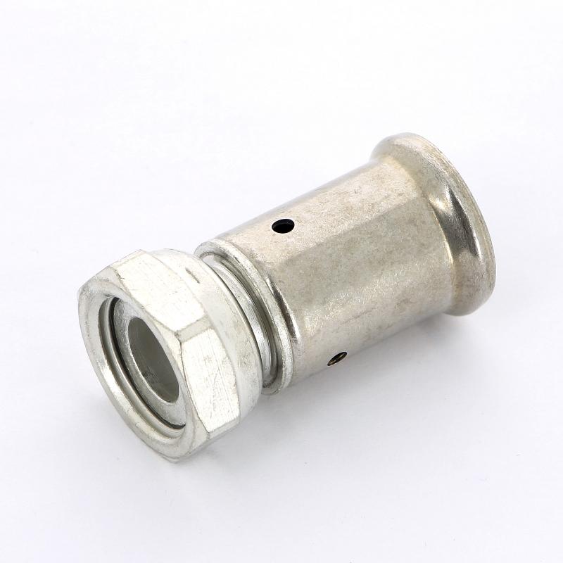 Муфта пресс-В с накидной гайкой оловянное покрытие HENCO 16x1/2'