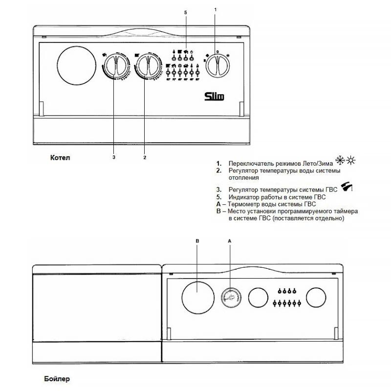 Емкостной водонагреватель для напольных котлов BAXI SLIM UB INOX 80