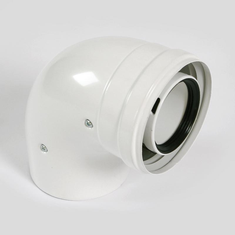 Отвод коаксиального дымоотвода BAXI D=60/100 мм, 87 градусов полипропиленовый, HT