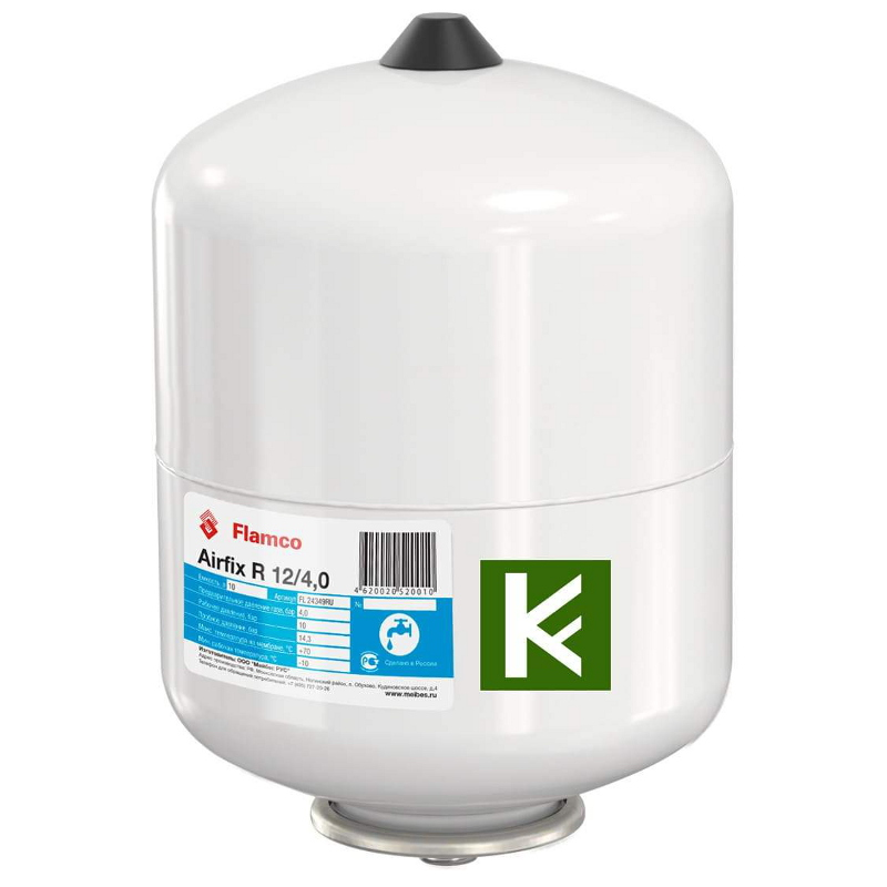 Расширительный бак Flamco Airfix R 12л белый 12/4,0 10 бар