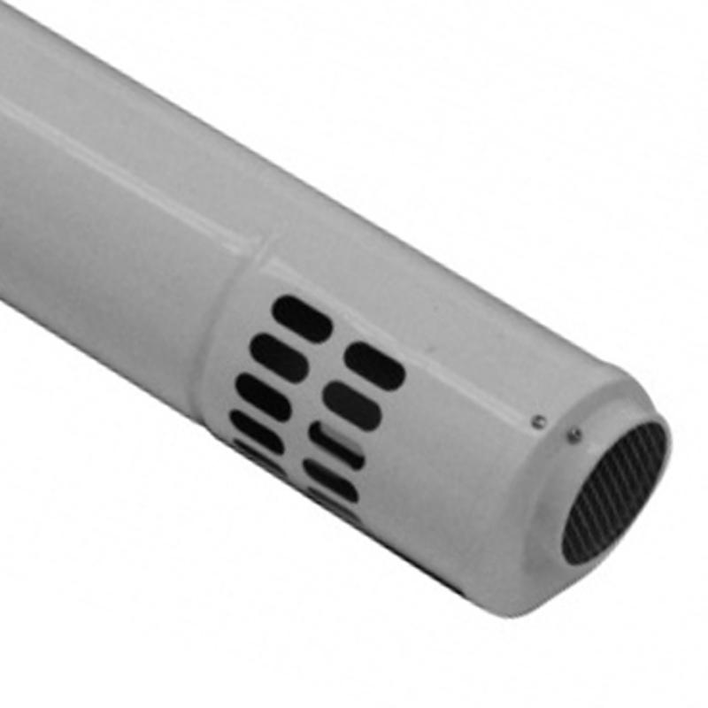 Труба коаксиальная BAXI HT 80/125 с наконечником, 1000мм, полипропиленовая