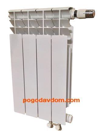 Биметаллический радиатор Radena VC 500 с нижним подключением