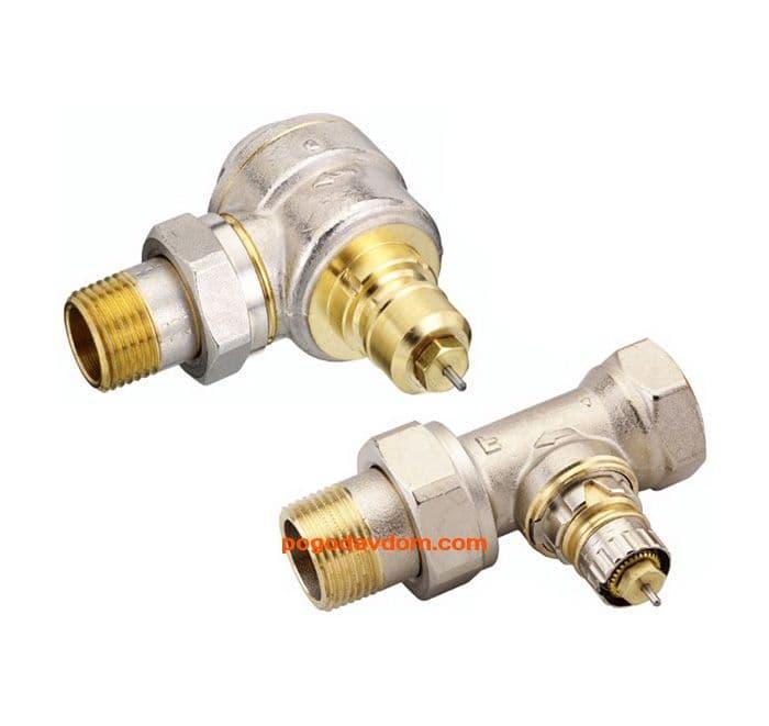 Клапан прямой RA-N для двухтруб насос системы отоп Д15мм