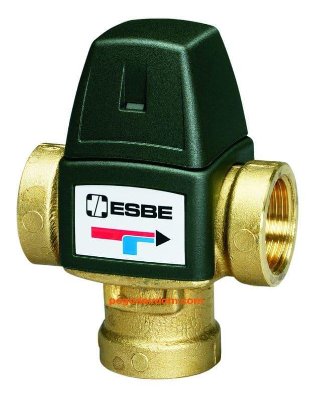 Esbe Вентиль т/с для ГВС ESBE VTA322 35-60C нар.1, KVS 1,6