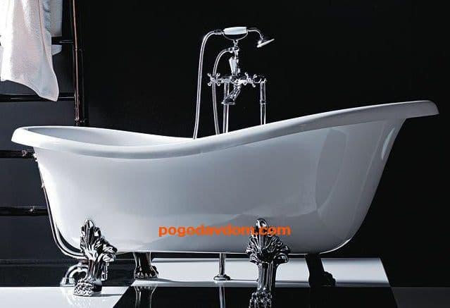 Ванна отдельностоящая EPOCA (отделка хром)