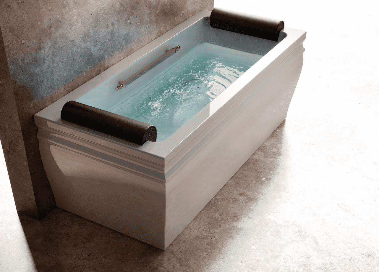 Ванна прямоугольная пристенная BLANQUE (золото/хром)