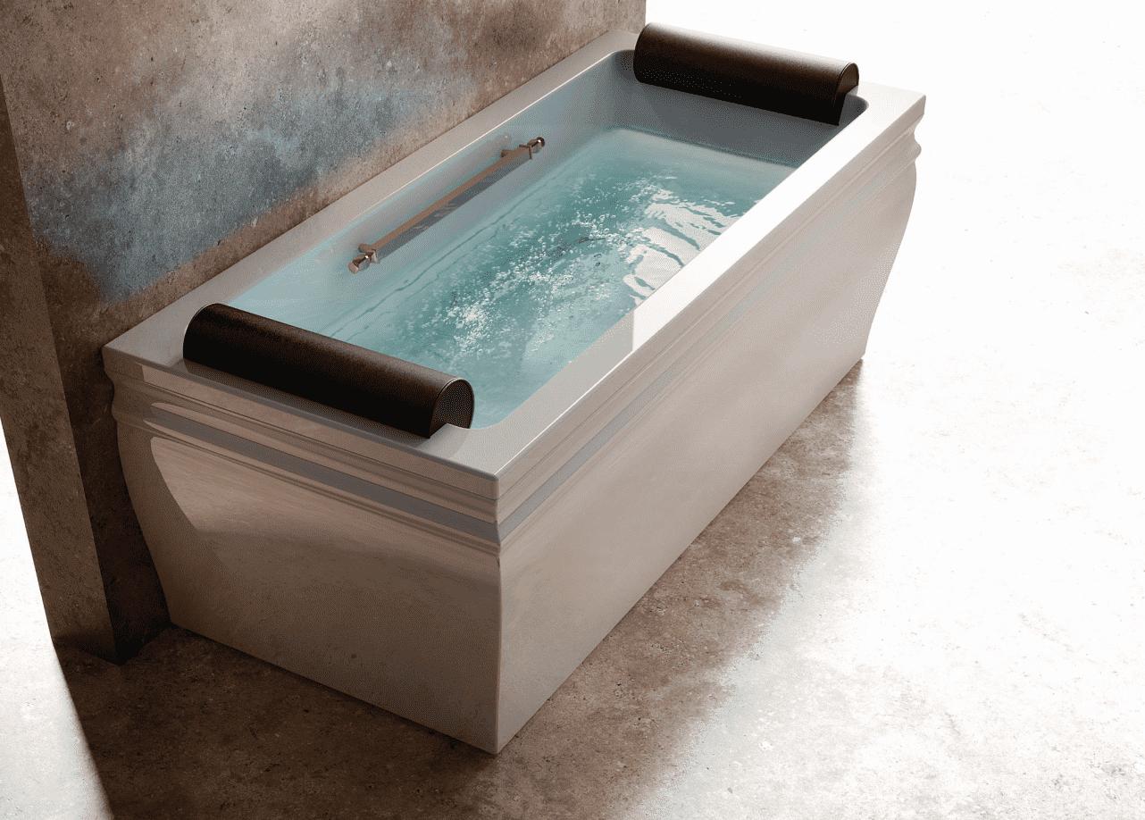 Ванна прямоугольная пристенная BLANQUE (белая/хром)