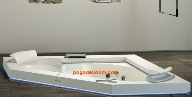 Топ для ванны 164Х164СМ CORIAN