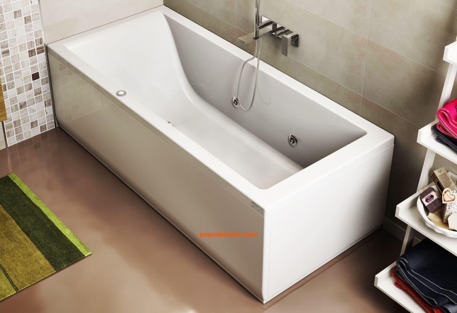Ванна прямоугольная с гидромассажем JACUZZI LAGOON 180*80
