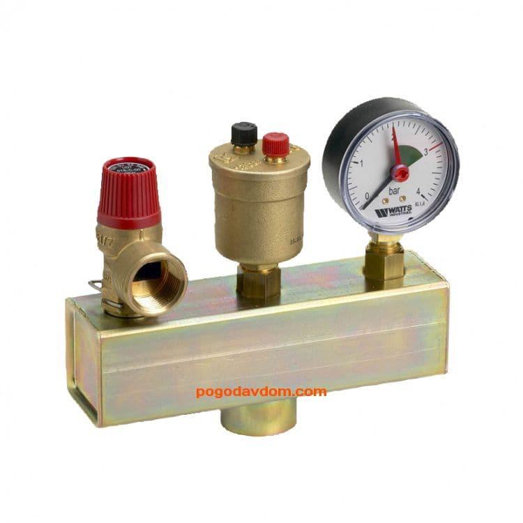 Группа безопасности котла KSG 15  1/2x3/4 до 50 кВт с кл.1,5 бар