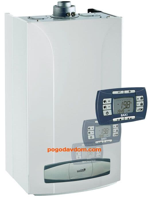 Котел газовый настенный Baxi LUNA-3 Comfort 310 Fi двухконтурный, с закрытой камерой сгорания 31 кВт