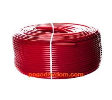 Трубы PE-Xa/EVOH  для напольного отопления, красная