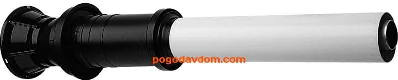 Вертик. наконечник для коакс. трубы полипропиленовый, диам. 80/125 мм, HT