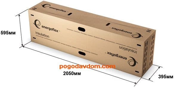 Теплоизоляция трубная Energoflex Super 28 х 6 мм