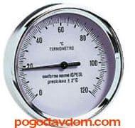 """Термометр биметаллический с погружной гильзой 1/2"""" 63 мм/50 мм"""