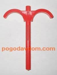 Дюбель двойной для труб 14-20 мм пластмассовый 100