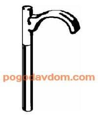 Дюбель одинарный для труб 14-20 мм пластмассовый 100
