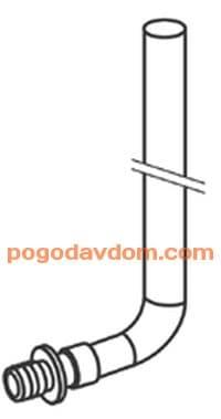 Монтажная трубка для радиатора конечная 330мм 16