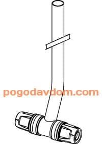 Монтажная трубка для радиатора проходная 330мм 16